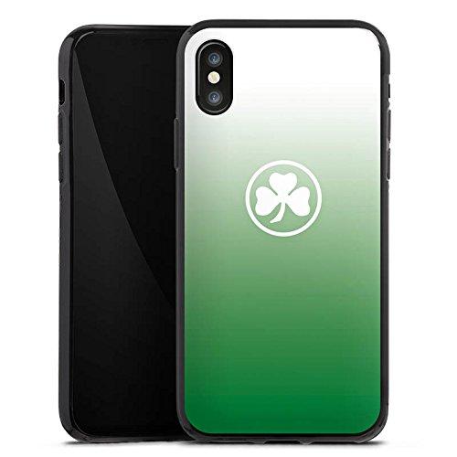 Apple iPhone X Silikon Hülle Case Schutzhülle SpVgg Greuther Fürth Fanartikel Fußball Silikon Case schwarz