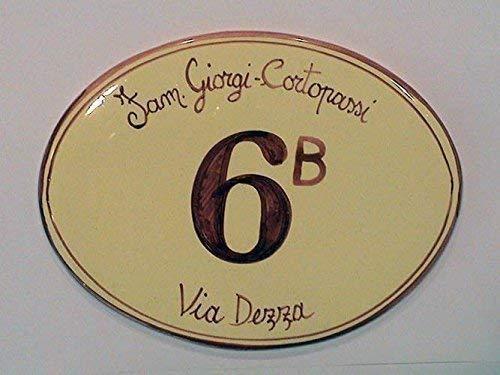 Keramik-und Plaketten oval Hausnummern - bestellen Sie hier Ihre Hausnummer (OVALE SENZA DECORO)