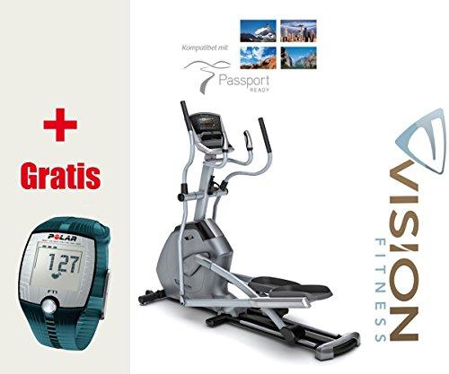 Vision Fitness X20 Elegant Elliptical Crosstrainer, inkl. Polar Brustgurt und FT1 Pulsuhr