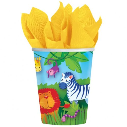 """Jungle Animals Party Cups, paper, pack of 8, 266 mls"""