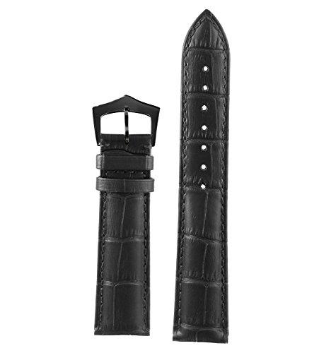 17mm-haut-de-gamme-en-cuir-noir-coutures-ton-sur-ton-bracelet-montre-italien-ecailles-rectangulaires