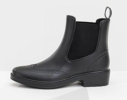 Mode Damen Stiefel Outdoor Reise Regen Stiefel Black
