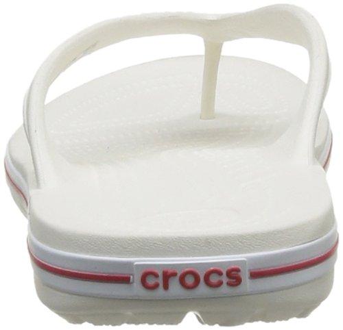 Crocodilos branco Branco Trenner Crocband Lopro Vermelho Toe adulto Unisexo Uwfqw0HPr