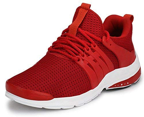 87df6e70bf37e Amazon Cashback or Rewards Gift Offers - Shoe Fab Branded Men Supersoft Red  Running Sports Shoes Touchwood Mens Shark Sports Shoes for Running/Jogging