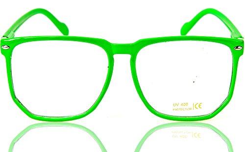 Neon Grüne ,, Woody, Nerdbrille