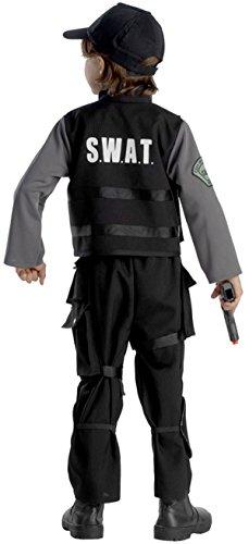 Imagen de viste a américa  838 s  escuadrones disfraz miembro de las fuerzas especiales swat  4 6 años  107 cm cintura  multicolor alternativa