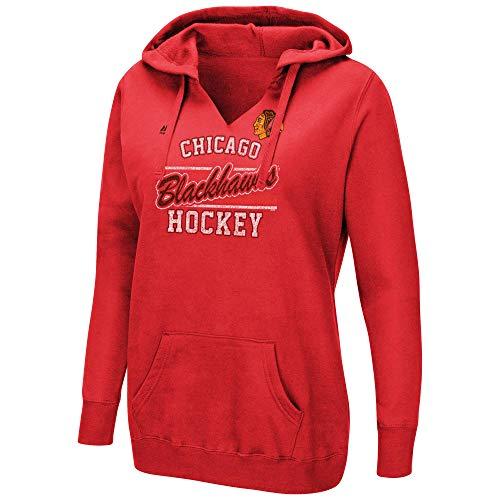 Majestic NHL Damen Raise The Level V-Neck Fleece Hoodie, Damen, rot, XX-Large -
