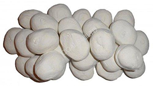 Kieselsteine 10 Gas Feuer Ersatz Weiß Für Kohle Feuer - Gas-kamin Kieselsteine