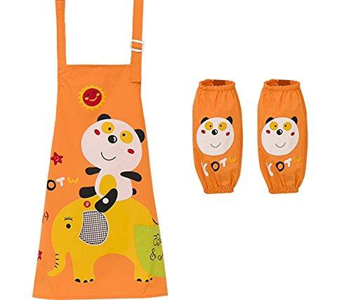 Kinderkunst-Kittel-Küchen-Schürze Für Kinder mit Stulpe (Künstler Kostüm Kleinkind)