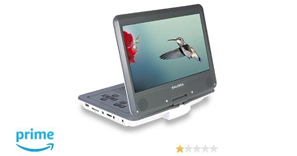 Salora DVP1038SW Portable DVD Player (26 cm (10 Zoll), 800 x ...