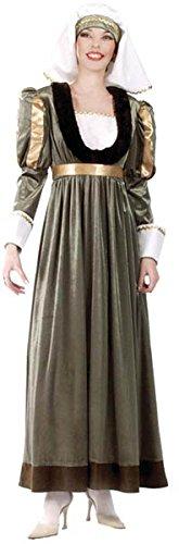 –cu050081/42–44–Kostüm Gabriella Größe 42/44 (Dame Moyen Age Kostüme)