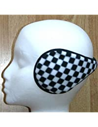 Black & White CHECK wraparound earmuffs ear muffs