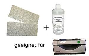 2 Lingettes pour vorwerk les nettoyants pour vitres vG100 en poly (2 pièces) et 1 bouteille balai nano-peptides
