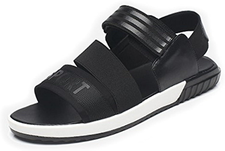 Sunny&Baby Zapatos para Hombres Correa de Gancho y Lazo Transpirable Beach Sandalia Informal para Caballeros Antideslizante...