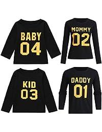 T Shirt Daddy Mommy Kid Baby Motiv Partnerlook Shirts Family 4er Set XS 5XL