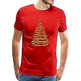 Photo de Hommes T-Shirt à Manches Courtes Graphic Christmas Reindeer Geometric Tee Shirt Mens Manches Courtes col Rond Chemise Blouse Tops par HONGJIA