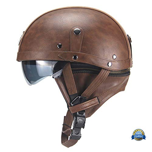 YLFC Casco Moto, Classic Leather · Casco Moto Jet