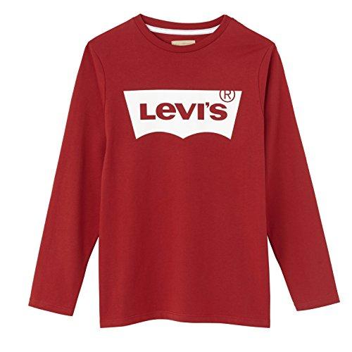 Levi's Jungen T-Shirt N91005H, Rot (Red 03),164 cm (Herstellergröße: 14 Jahre)