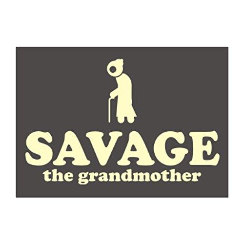 Teeburon Savage the grandmother Aufkleber Packung x4 -