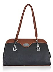 Fantosy Women's Handbag Black and Brown (FNB-581)