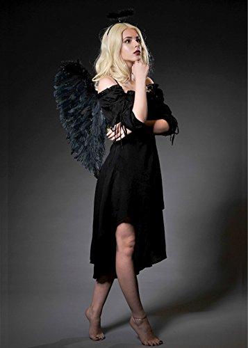 Delights Disfraz ángel caído Negro Halloween Mujer