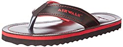 Airwalk Boys Flip Flop Red Synthetic Flip-Flops and House Slippers - 1C UK