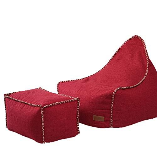 Canapés Pouf Poire D'haricot Intérieur De Chaise De Sofa D'adulte Et De Paresseux pour Le Pouf De 1 Personne (Color : Red, Size : 35.4 * 27.5 * 31.4in)