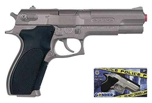 Gonher - Pistola Policía con 8 disparos, color metal (45/0)