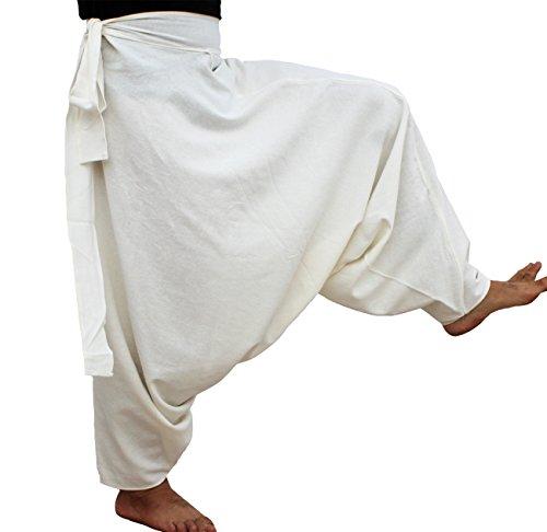 raanpahmuang Marke Dick amphoe Muang Baumwolle Seite Krawatte Aladdin Baggy Mao Hose Gr. Small, ()