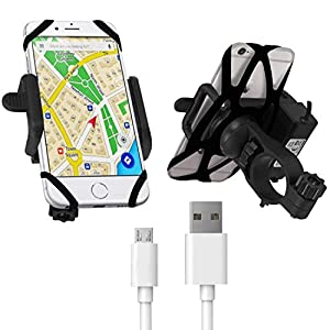 Blackcat Bike Mobile Charger Holder with Cable | Fast Charge 2.1A