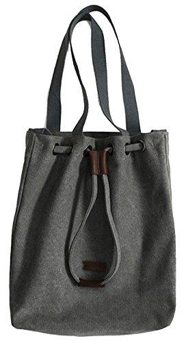 Tragetasche für Frauen – Tragbaren Eimer Tasche / Hobos / Schulterbeutel / Handtasche / Schulranzen - Weiß Grau