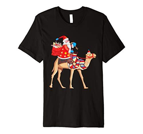 Santa Reiten Camel Christmas T-Shirt Funny Christmas Camel