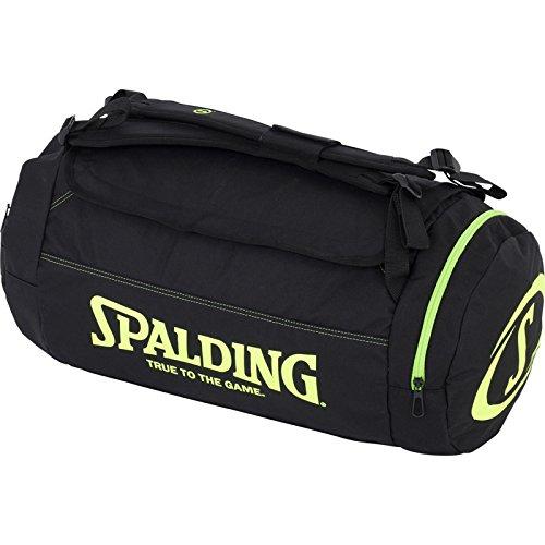 (Spalding Duffle Bag Taschen, schwarz/Flash grün, NOSIZE)