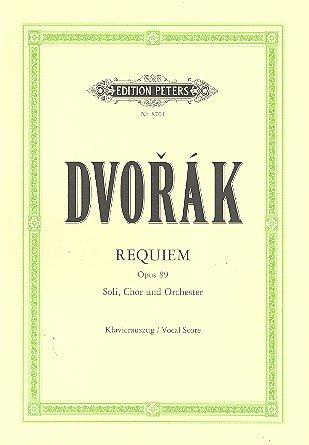 Antonin Dvorak: Requiem op. 89 für Soli, Chor und Orchester -- Klavierauszug von Edition Peters (0-chor)