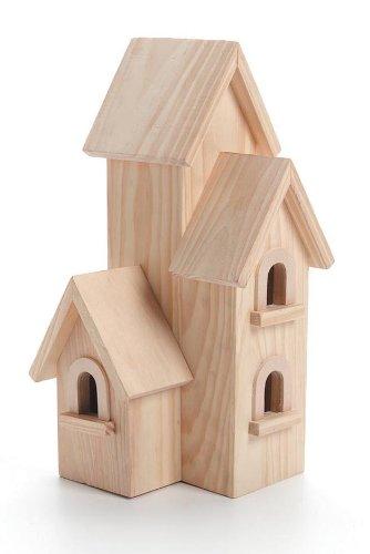 Darice Vogelhaus aus Holz, unbehandelt Manhattan 12