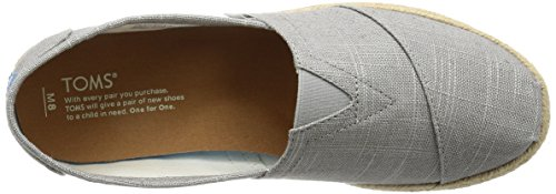 Toms Mens Alpargata Canvas Ankle-High Flat Shoe Grey