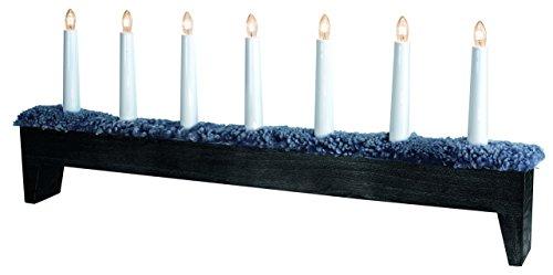Star 659–60Svenljunga (Gemeinde) Kerzenständer 7Lichter Holz/Fell Schaf anthrazit/dunkelgrau 26x 66cm