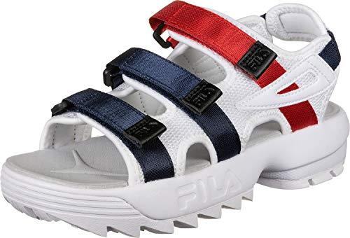 Fila Disruptor Sandalias White/Navy/Red