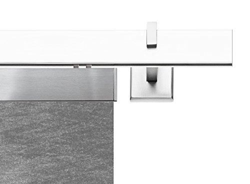 Tilldekor 945030–20square binario di scorrimento, metallo, argento, 55x 10cm
