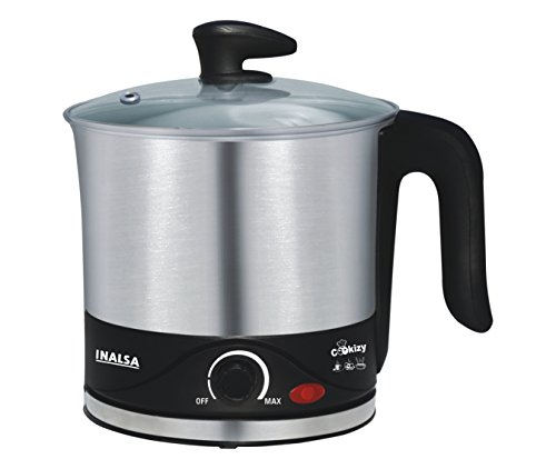 Inalsa Cookizy 1.5-Litre Kettle (Black/Grey)