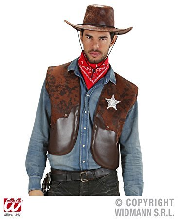 Cowboyweste (Erwachsenen Gunfighter Kostüme Cowboy Western)