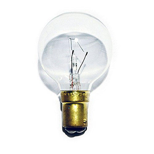 6 x Golf Ball Light Bulbs 40W SBC B15 Classic Mini Globes P45 Clear Round, Small Bayonet Cap, Incandescent Lamps, 400 Lumen, Mains 240V