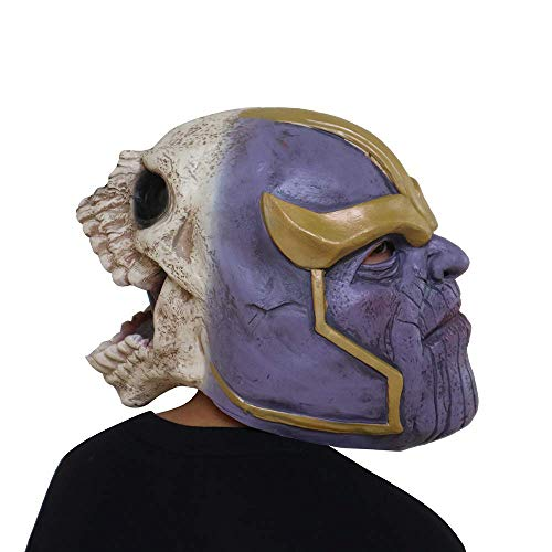Halloween-Maske, Halloween-Kostüm Horror Thanos Latex-Maske, Horror-Ghost Beängstigend, Prank-Maske Face Scary Party, Bar-Requisiten, Maskerade