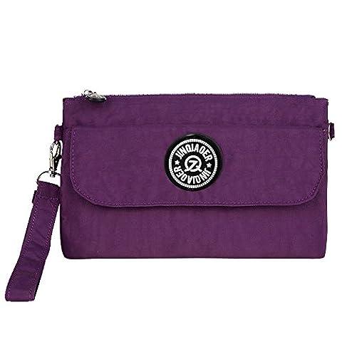 Wocharm Women's Coin Purses And Pouches Handbag Sport Portable Organiser Purse Cash Key Phone Bag Nylon Wristlet