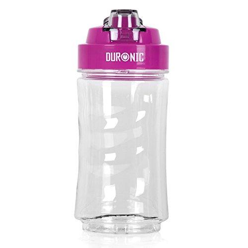 """Duronic 400 CR/PK Trinkflasche/Trinkbecher/Wasserflasche/Ersatzflasche für den """"BL505 Mini Standmixer"""" mit Infuser für Fruchtschorlen - BPA FREI - 400 ml"""