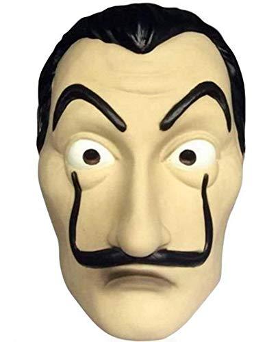 Chaks Salvador Kostüm Halb-Maske für Haus des Geldes Fans Kunststoff (Nerd Overall Für Erwachsene Kostüm)