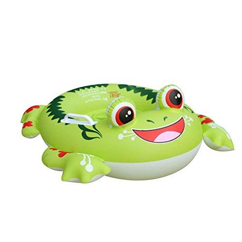 Pusheng Aufblasbarer Frosch Schwimmring Luftmatratzen Schwimmhilfe Schwimmtrainer Baby (Grün) -