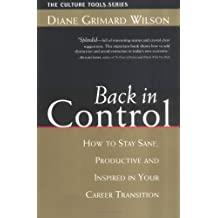 Back in Control: How to Stay Sane, Productive, and Inspired in Your Career Transition (Culture Tools Series)
