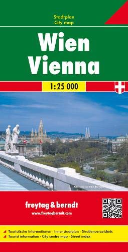 Wien, Stadtplan 1:25.000: Stadskaart 1:25 000 (freytag & berndt Stadtpläne)