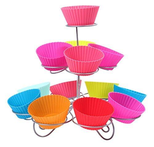 Genuino Nivel 3 Espiral Metal Soporte Cupcakes - 13 Mini Pastel Expositor - Para Fiestas y OCASIONES POR Trimming SHOP